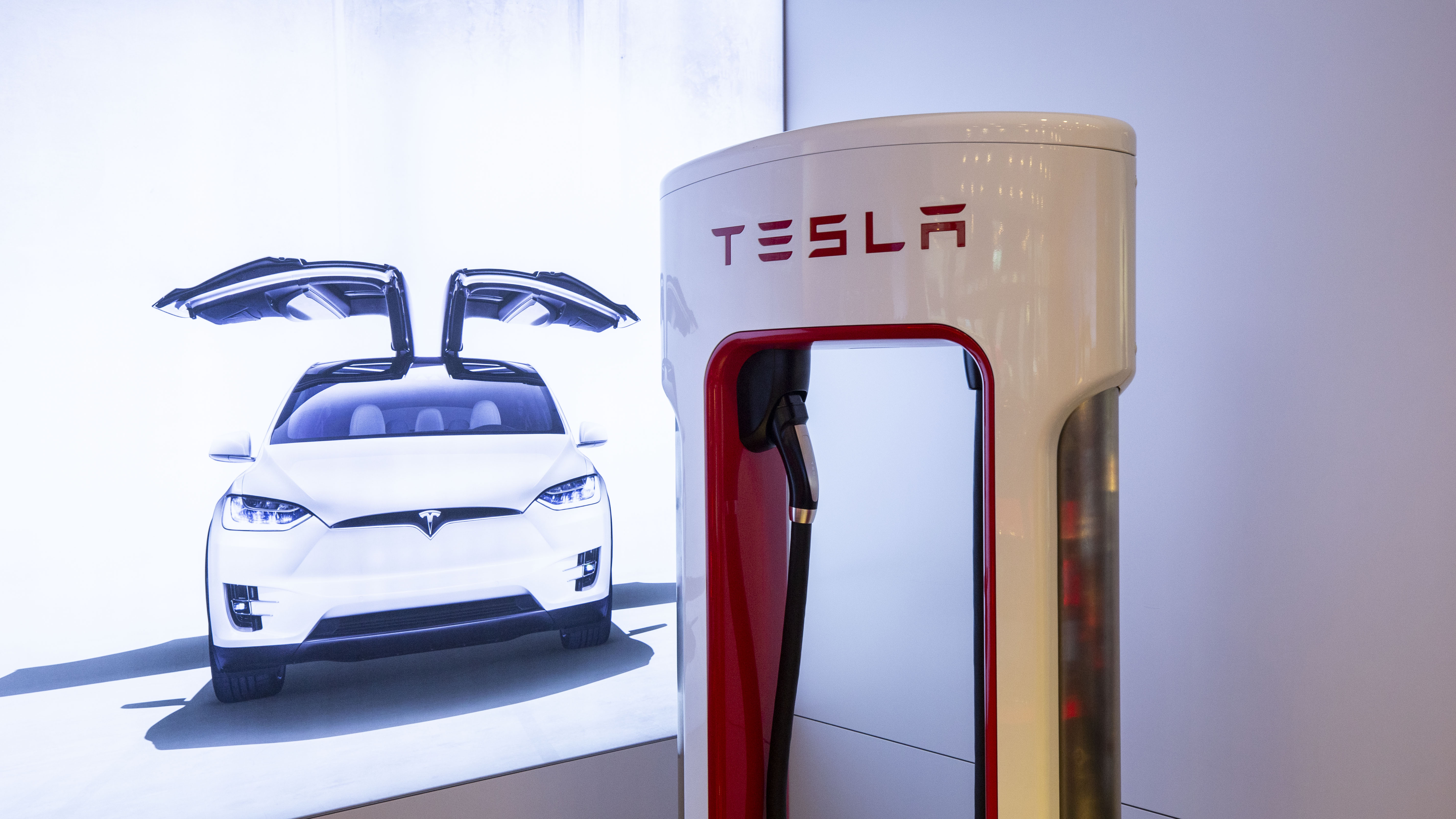 Tesla's new home charging station plugs into a wall outlet