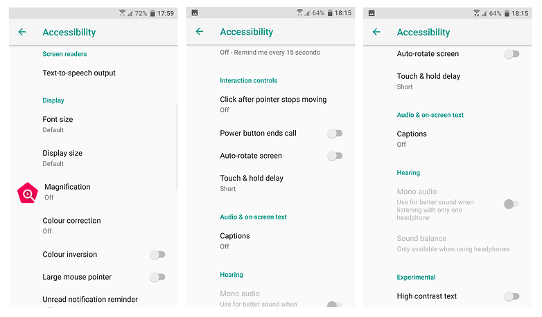 accessibility htc screenshot