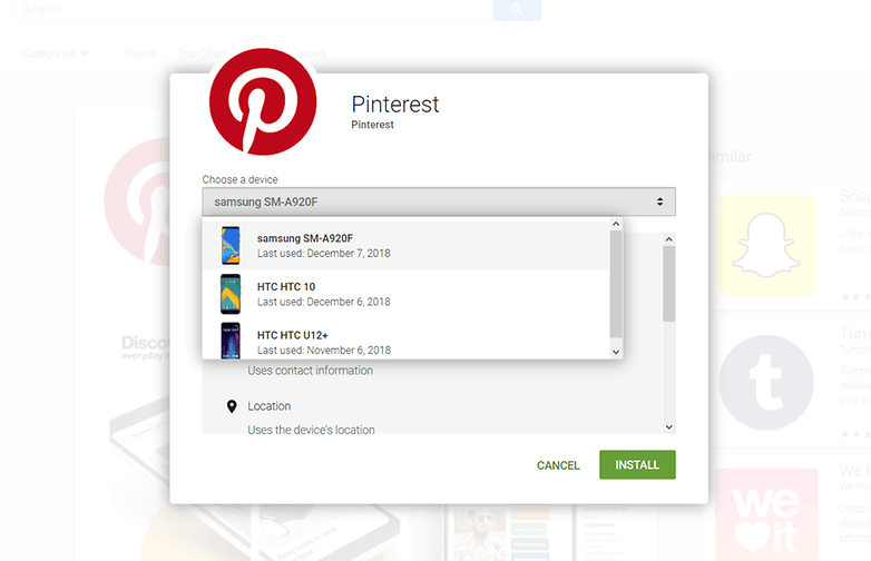 downloading pinterest