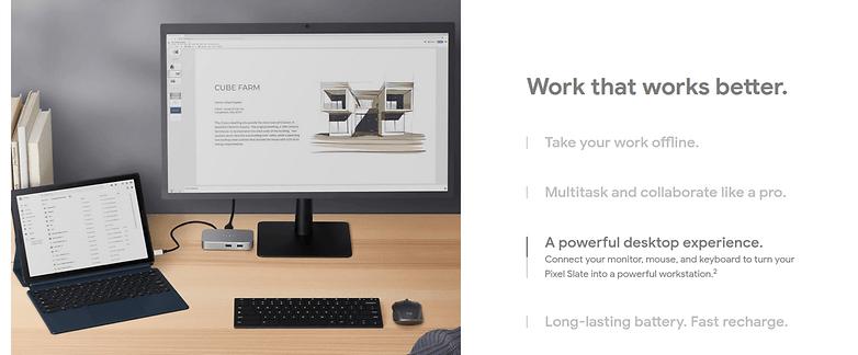 pixel slate desktop