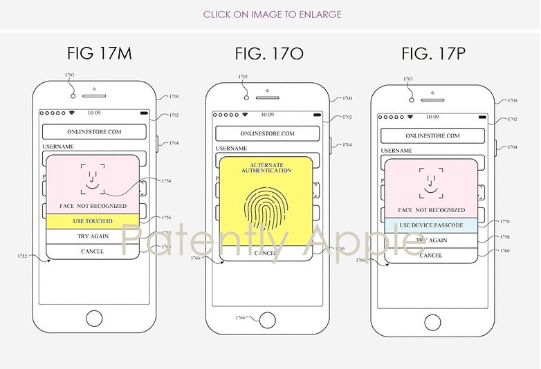 apple patent touch id