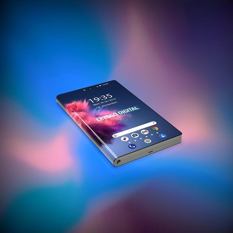 huawei foldable smartphone 3d renders 2