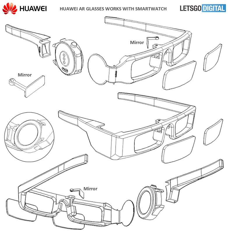 huwaei ar glasses patent 1