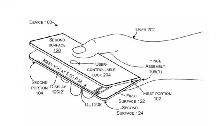 microsoft foldable display patent