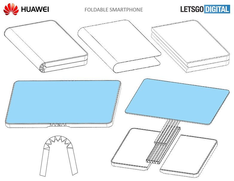 patent huawei foldable smartphone