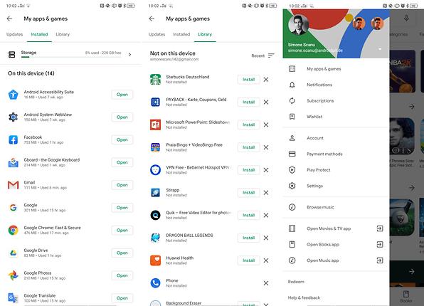 Google Play Store im veränderten Material Design für alle