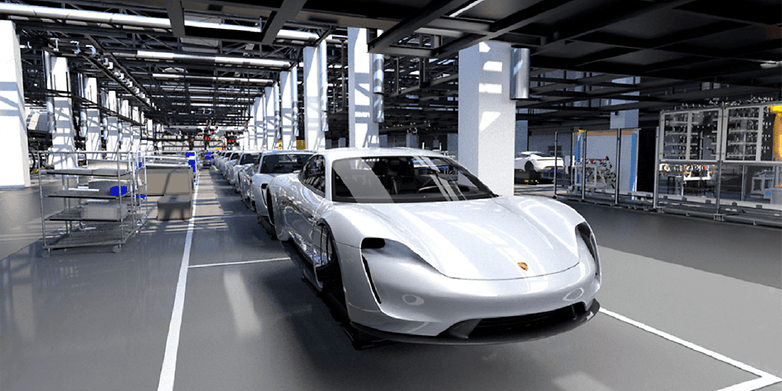 porsche taycan production rendering