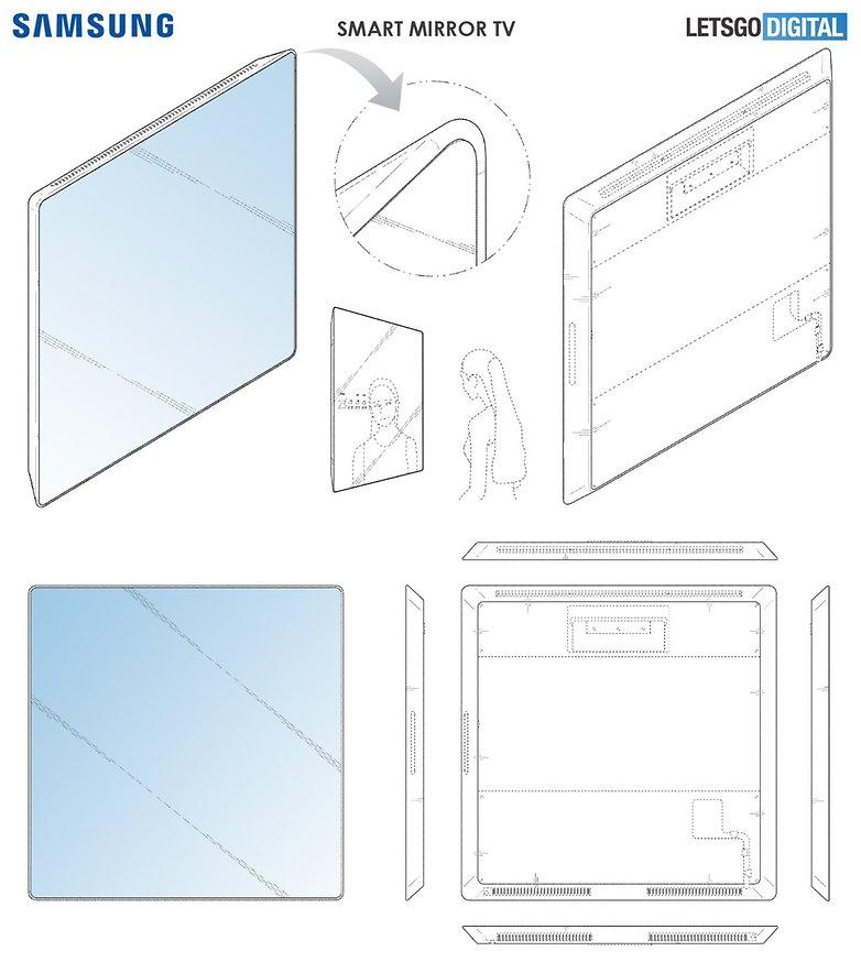 samsung smart mirror tv patent