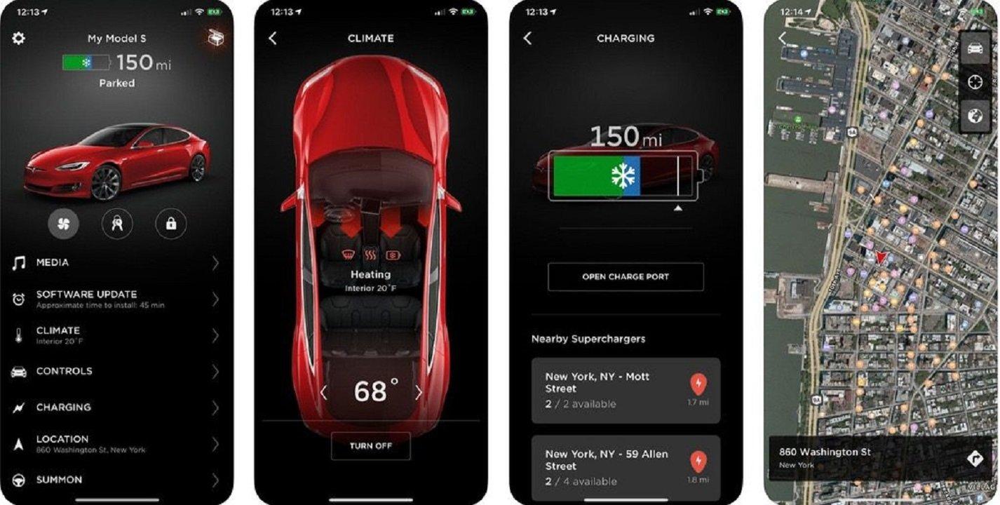die neue version der tesla app bietet einen gro en vorteil androidpit. Black Bedroom Furniture Sets. Home Design Ideas