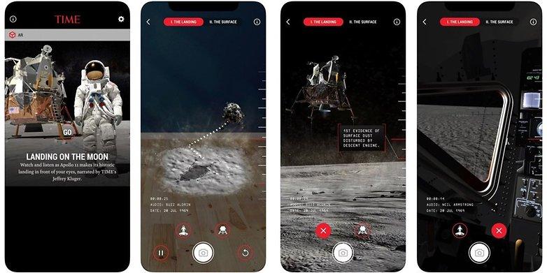 time moon landing