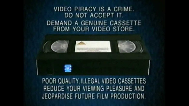 vhs illegal disclaimer