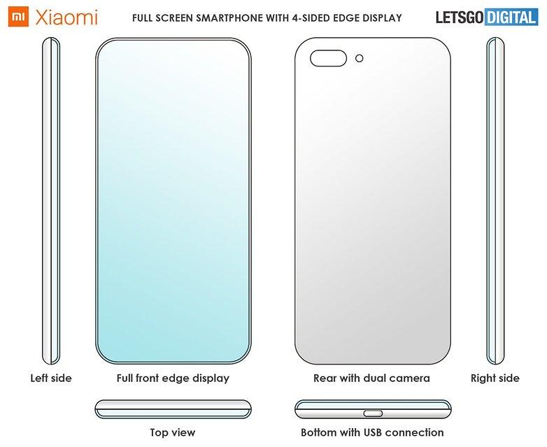 xiaomi smartphone edge display