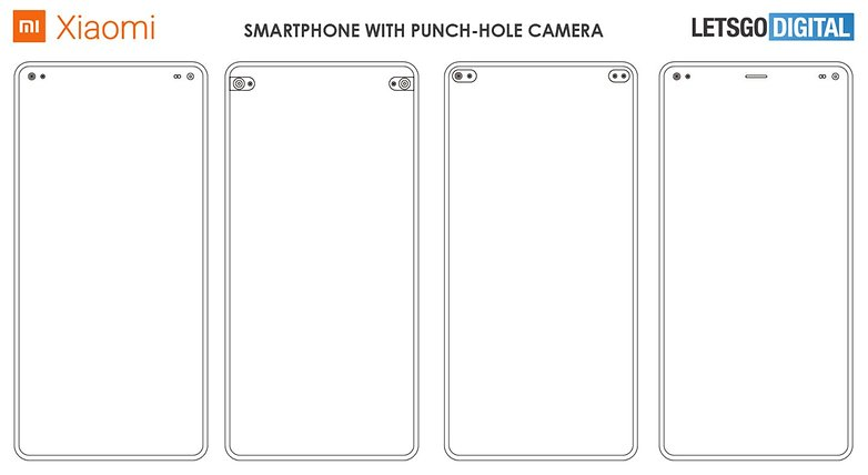 xiaomi smartphone punch hole camera