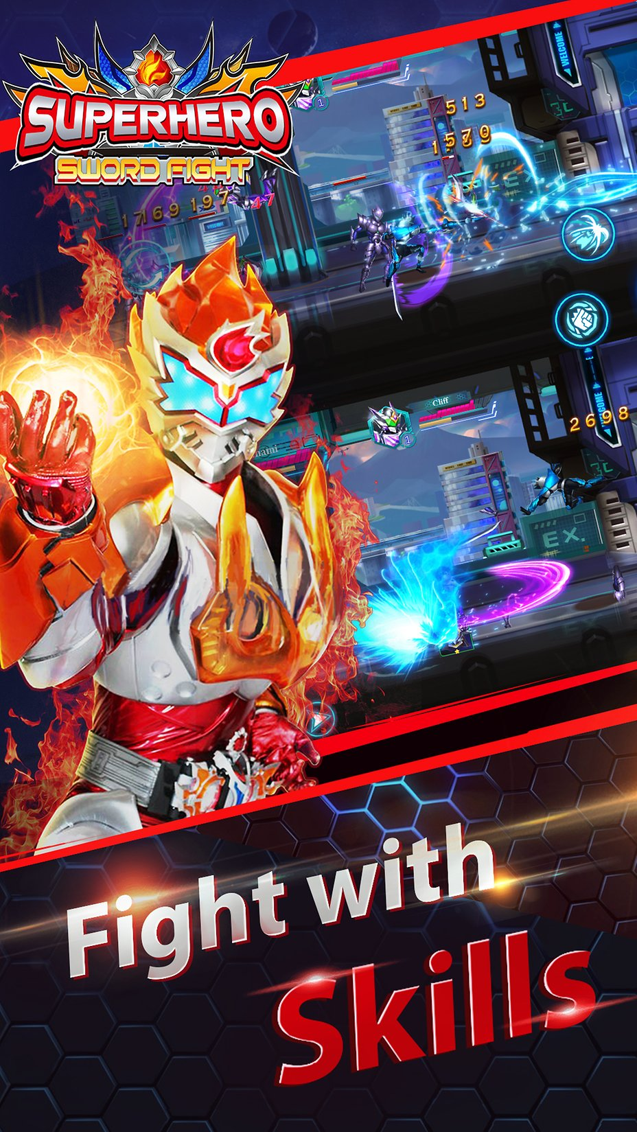 superhero fight sword battle action rpg unimob games