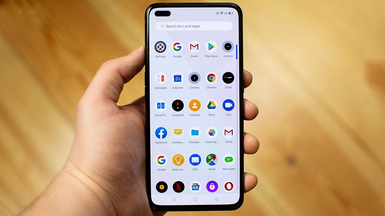 AndroidPIT Realme X50 Pro Front Handheld