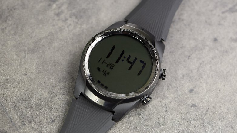 AndroidPIT Ticwatch Pro 4G LTE Battery Saving Screen