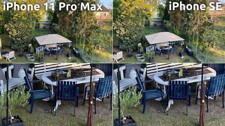 AndroidPIT Apple iPhone SE 2 Qualité d'image vs iPhone 11 Pro Max