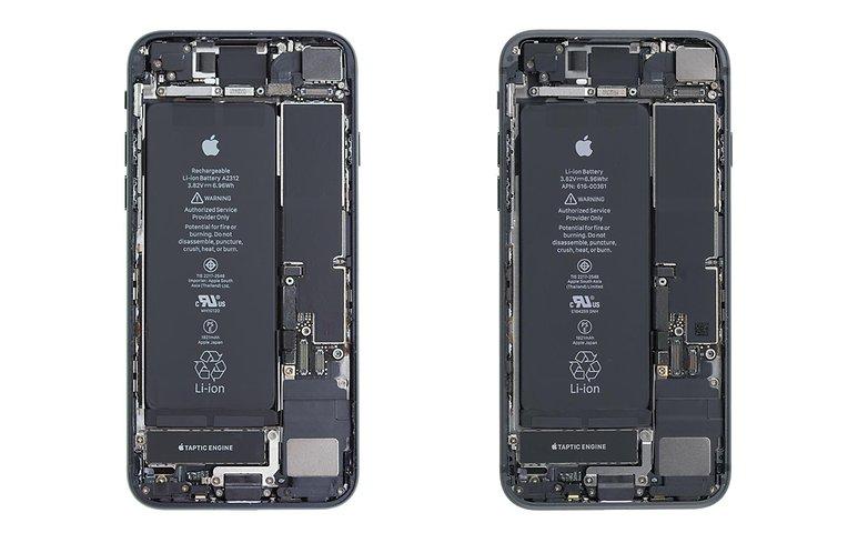 Vergleich iPhoneSE relie les recomptes de l'iPone8