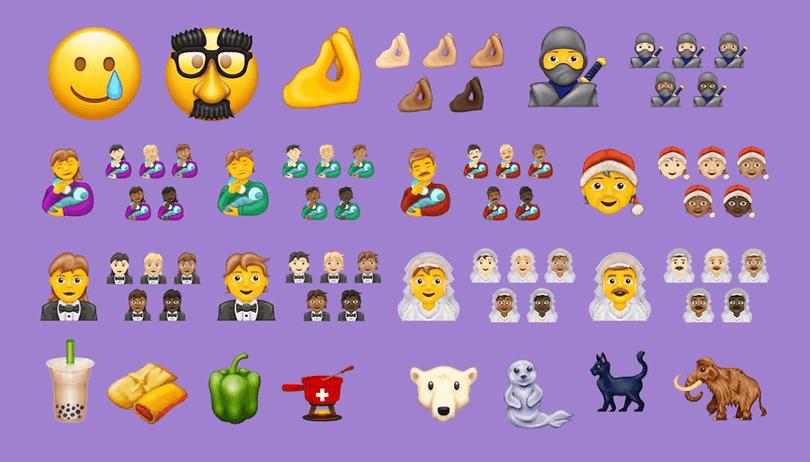 Tiere, Symbole, Smileys: So sehen die 62 neuen Emojis aus