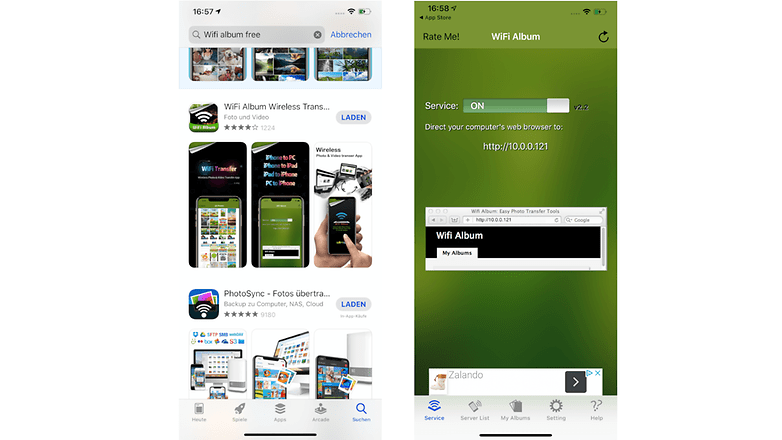 iPhone Wifialbum kostenlose App