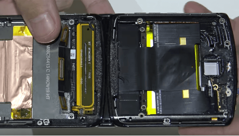 Motorola Razr (2019) teardown reveals battery and display replacement almost impossible