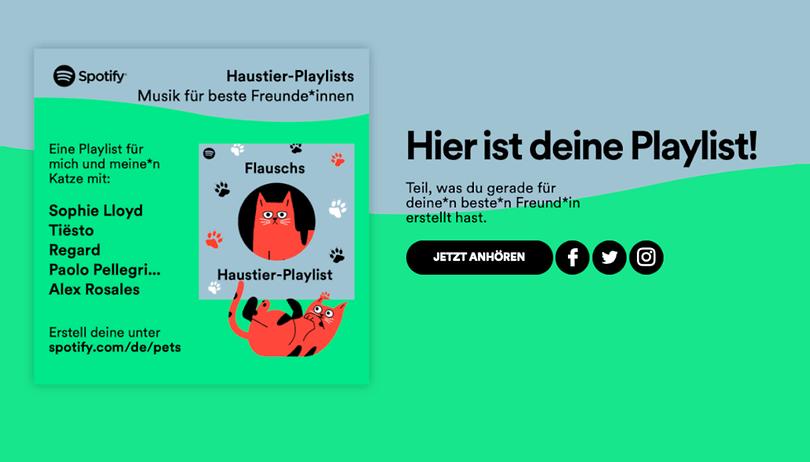 Spotify Haustier-Playlist: Verrücktes Feature für Eure Fellnasen
