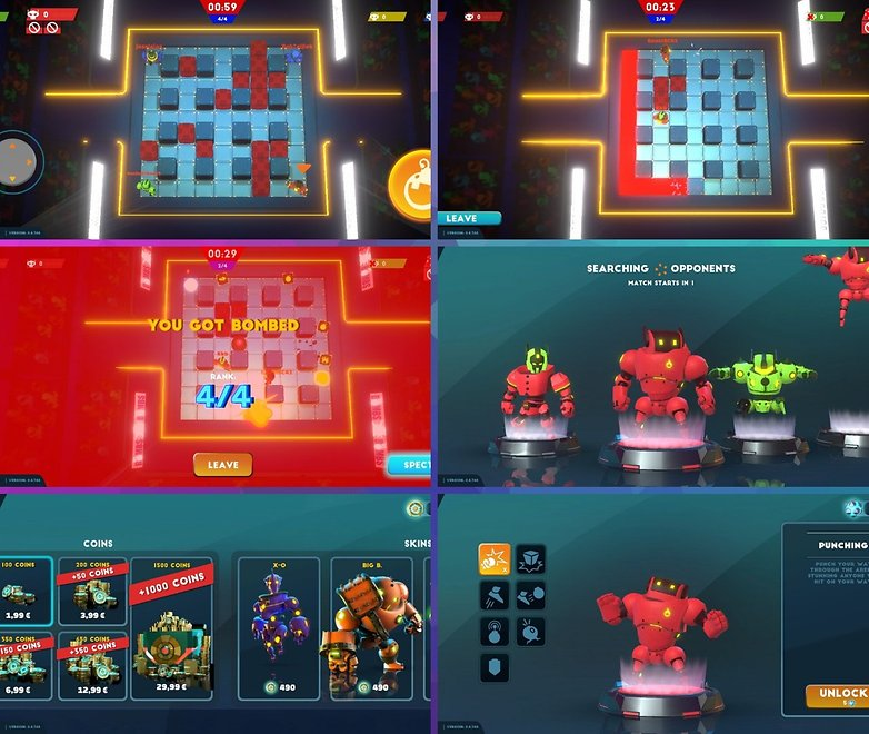 5 applications android ios semaine bomb bots arena