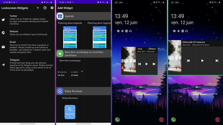 5 applications android ios semaine lockscreen widgets