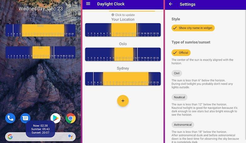 5 apps week1 daylight clock