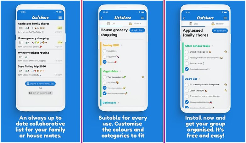 5 apps week1 listshare