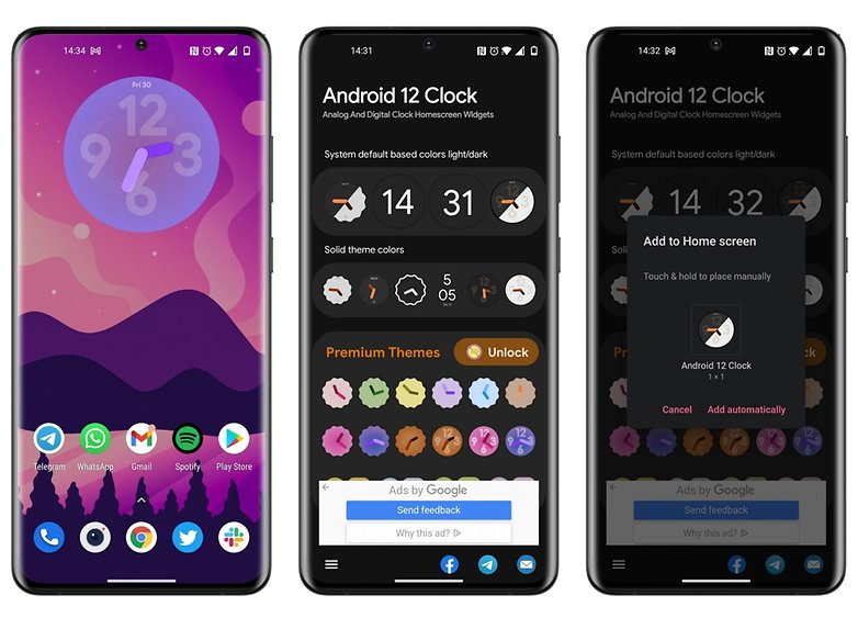 5 apps Week 30 2021 Android 12 o'clock widget