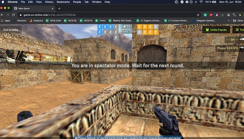 Counter-Strike 1.6 agora pode ser jogado de graça direto no navegador