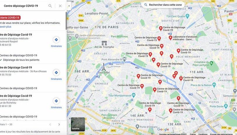 Google Maps: Comment trouver les centres de dépistage Covid-19 proches de vous?