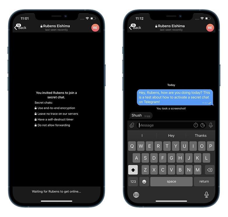 how to start secret chat telegram ios screenshot
