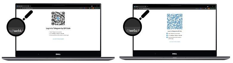 how to telegram webk vs webk url