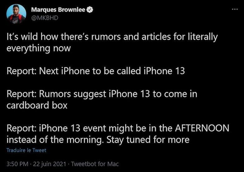 mkbhd rumors tweet