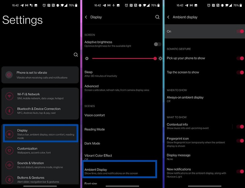 oneplus oxygenos 11 how to always on display