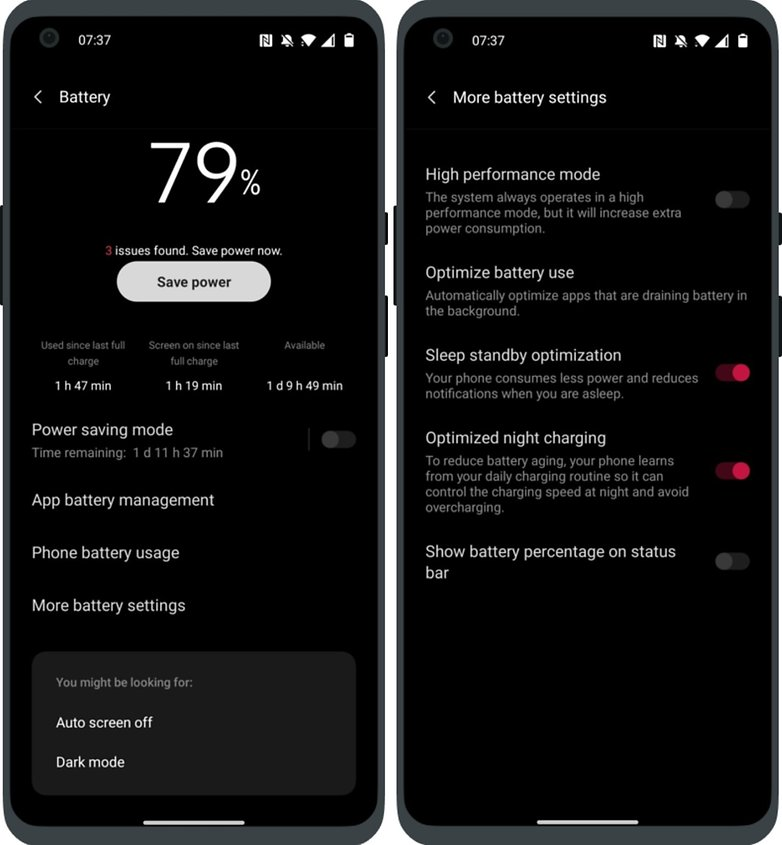 oneplus nord 2 oxygenos 11 3 high performance mode