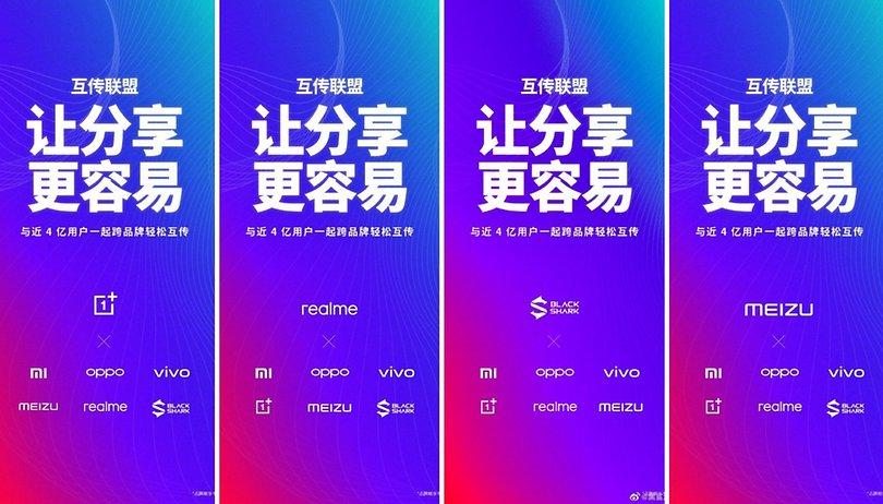 OnePlus und Realme übernehmen Xiaomi's Airdrop-Alternative