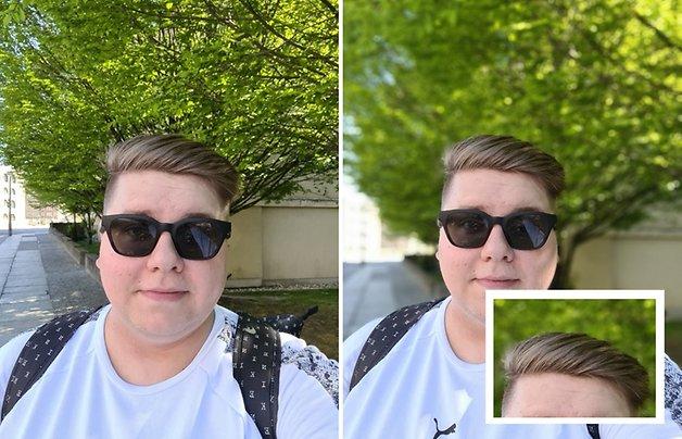 Le mode Bokeh de la caméra selfie