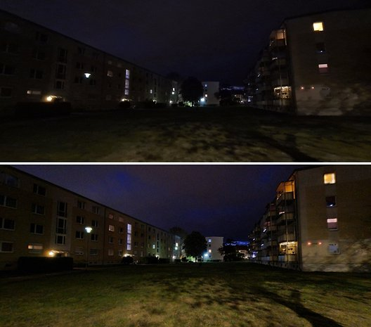 Des photos en grand-angle et ultra grand-angle de nuit