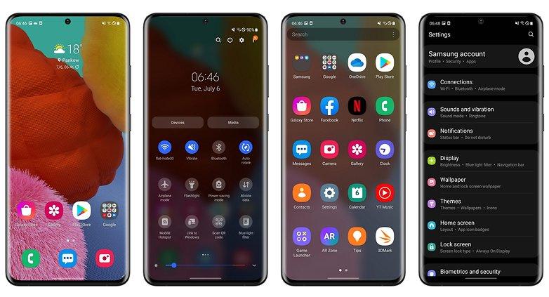 samsung galaxy a51 interface oneui 3.1