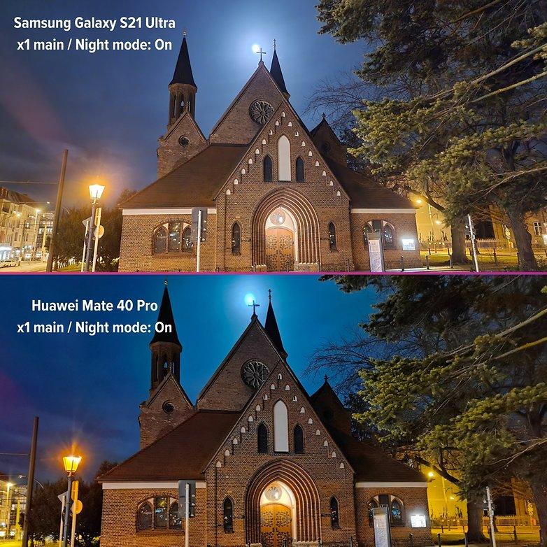 samsung galaxy s21 ultra review photo night vs huawei mate 40 pro