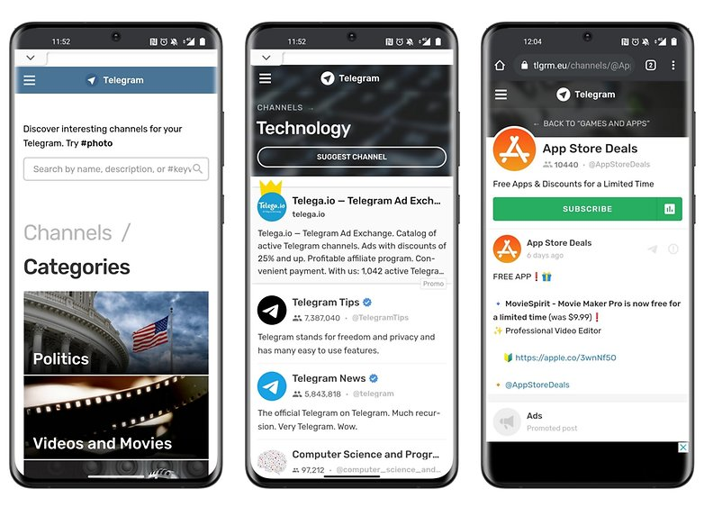 telegram how to find groups official website mobile