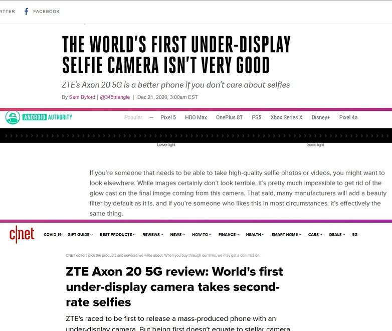zte axon 20 under display camera us reviews not convinced