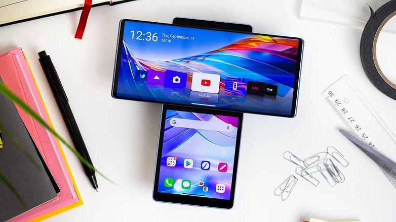 NextPit LG Wing screens