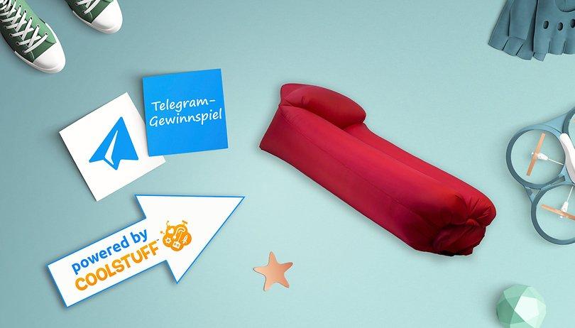 Das Telegram Gewinnspiel: Gewinne ein aufblasbares Loungesofa