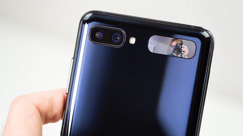 AndroidPIT Samsung Galaxy Z Flip selfie screen