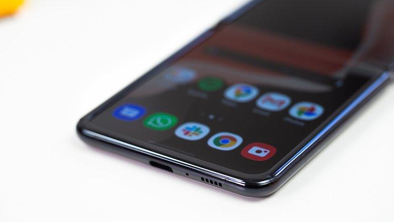 AndroidPIT Samsung Galaxy Z Flip usb