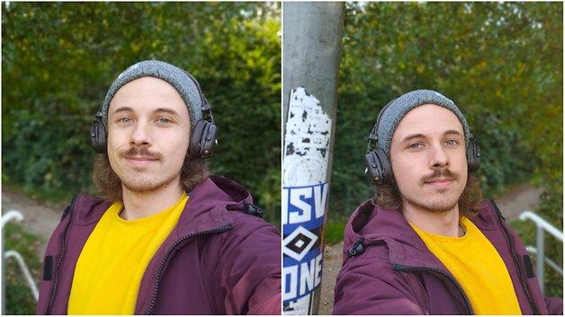 Zwei Selfies, aufgenommen mit dem Oppo Reno4 5G.
